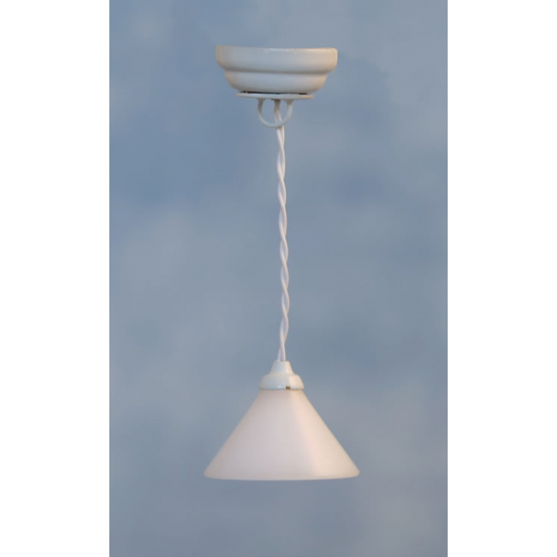 Streets Ahead White Coolie Ceiling Light