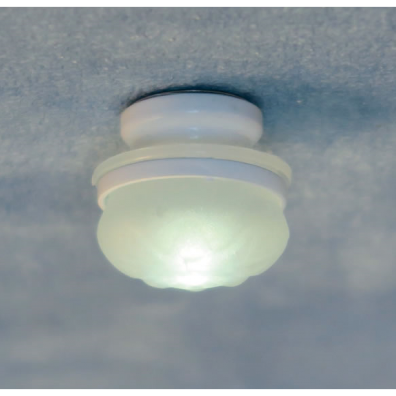 Streets Ahead White Frosted Ceiling Light