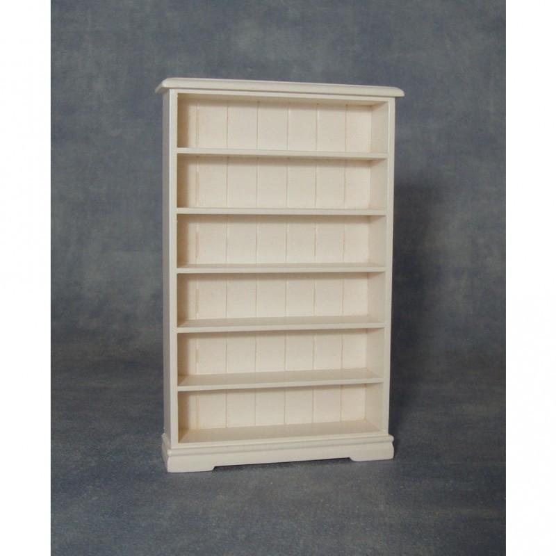 Six Shelf White Bookcase