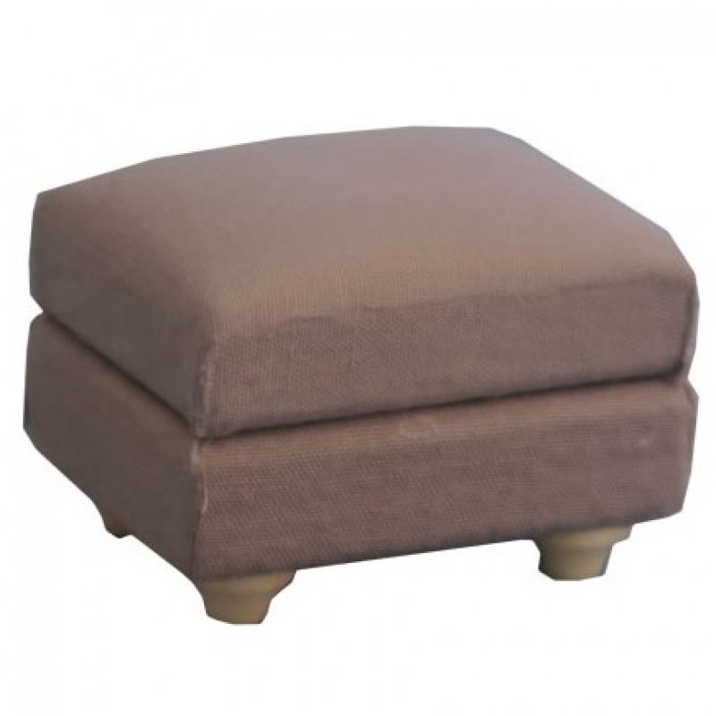 Grey Traditional Footstool