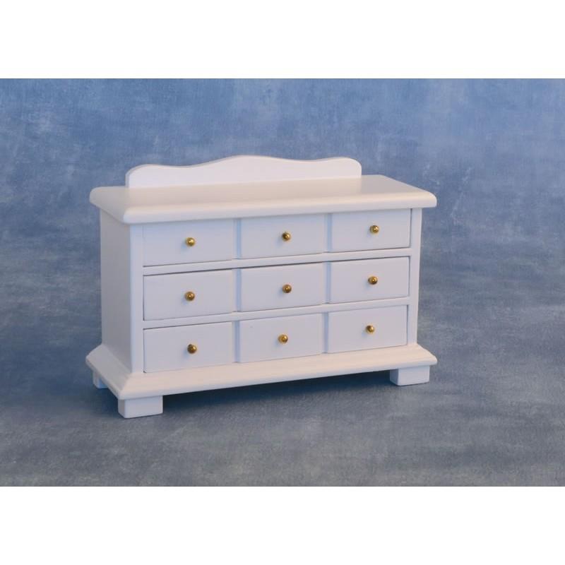 9 Drawer Sideboard White