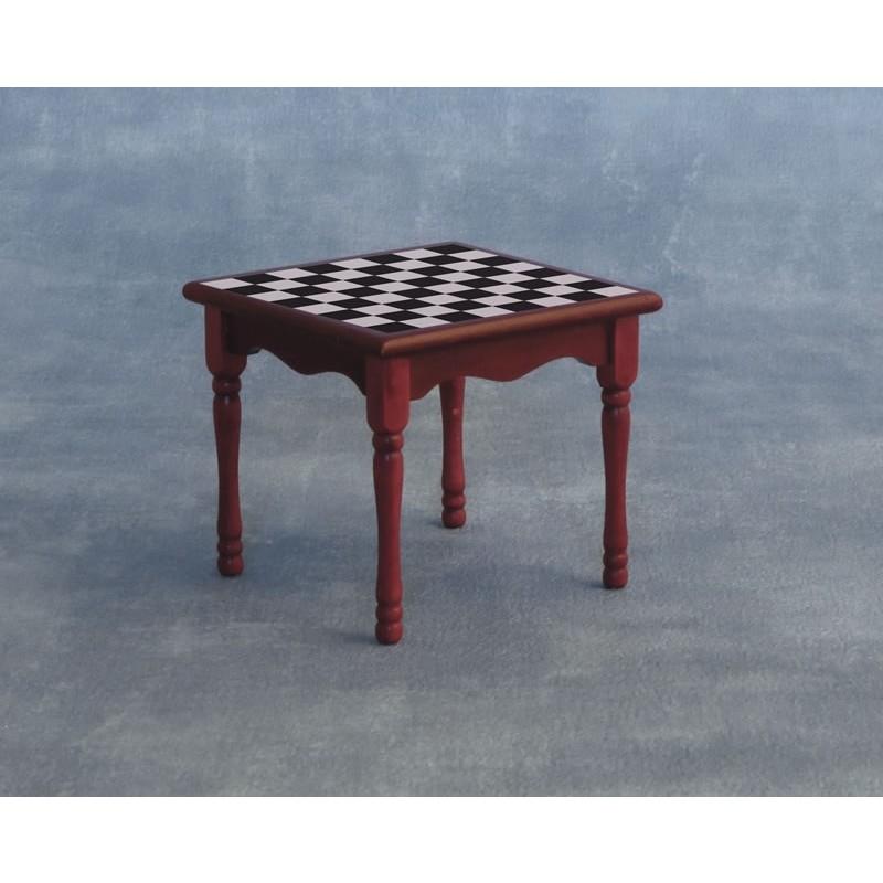 Chess Table Mahogany