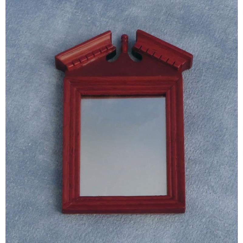 Pediment Top Mirror Mahogany
