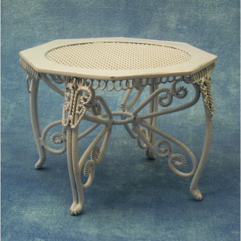 White Garden Table