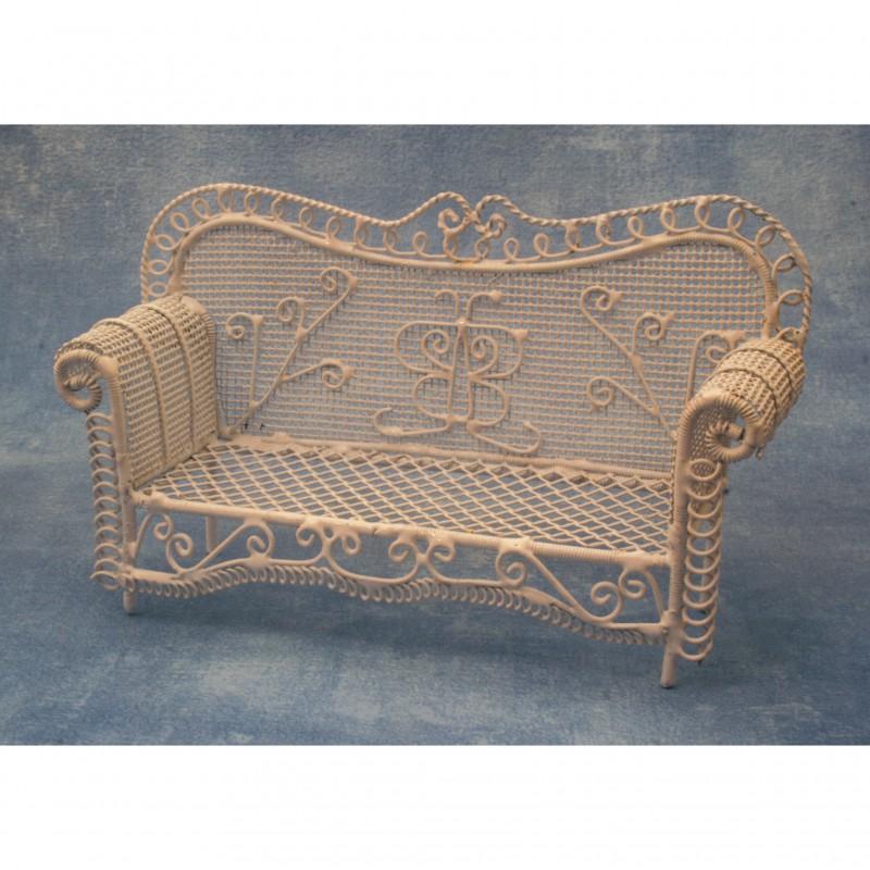 White Garden Sofa
