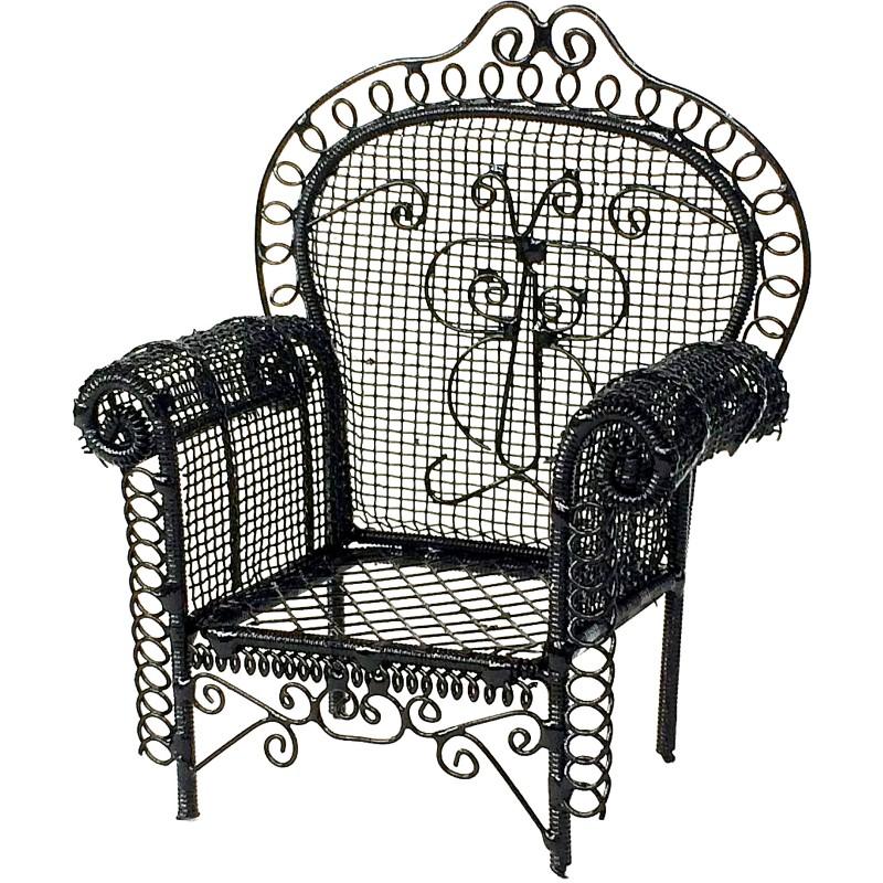 Black Garden Armchair