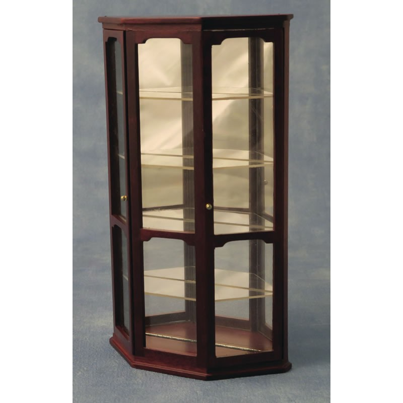 Babettes Miniaturen Display Case Mahogany