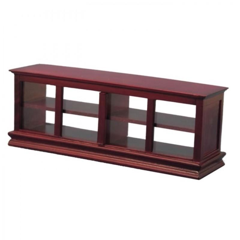 Babettes Miniaturen Shop Counter with glass Mahogany