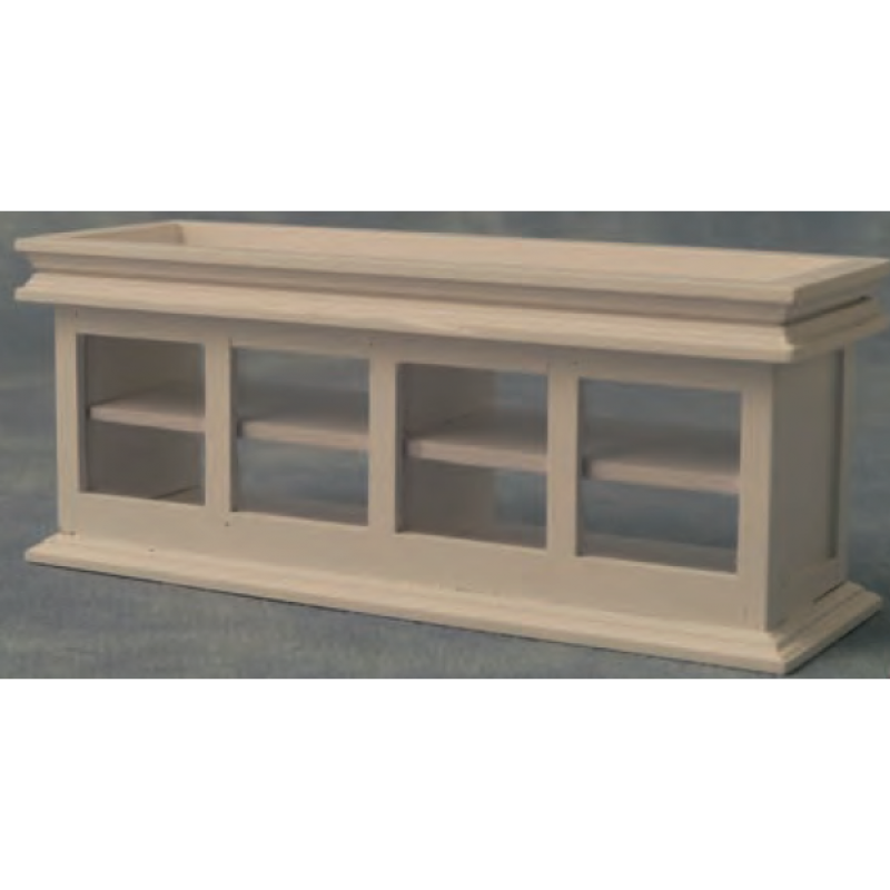 Babettes Miniaturen Shop Counter with glass White