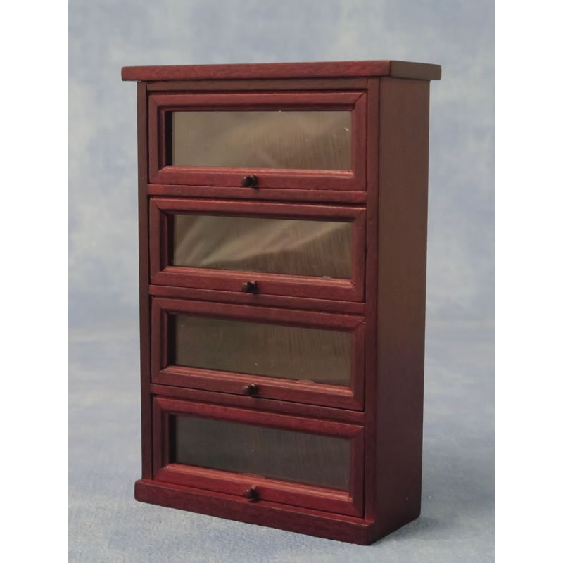 Babettes Miniaturen Wall Display Cabinet 4 Shelves