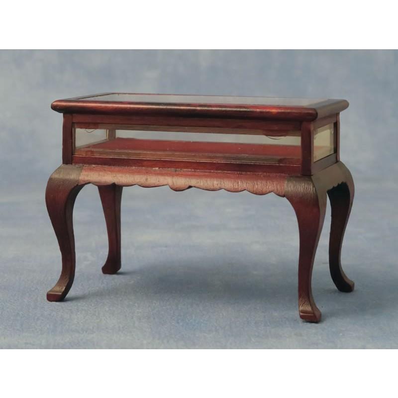 Babettes Miniaturen Display Table Mahogany