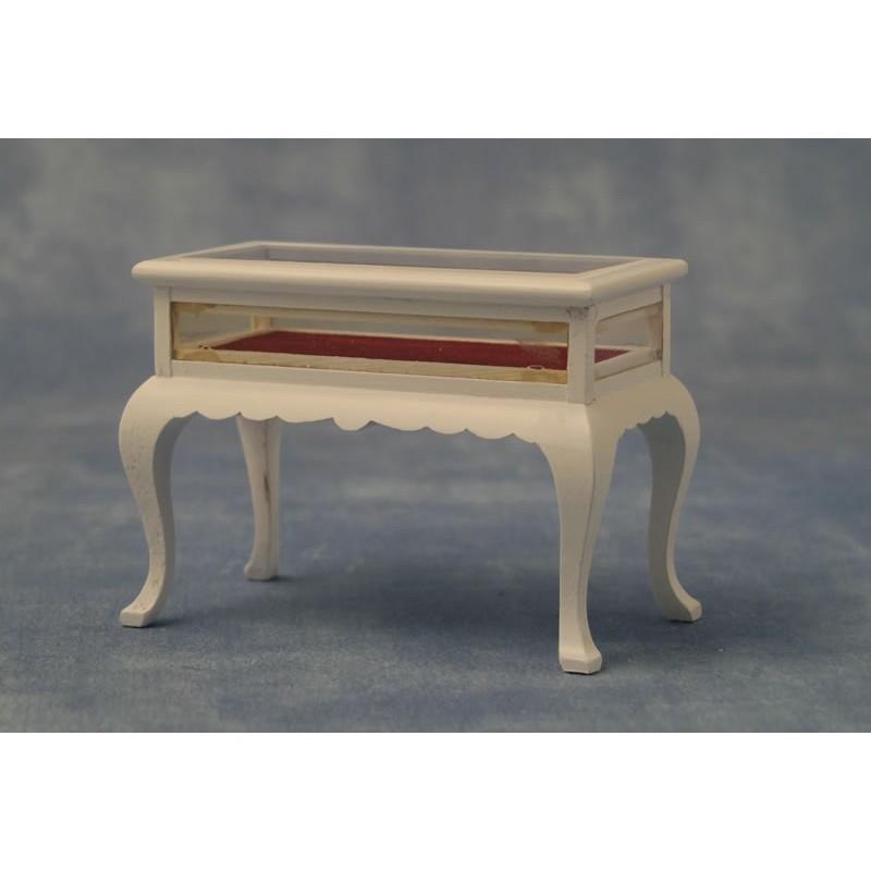 Babettes Miniaturen Display Table White