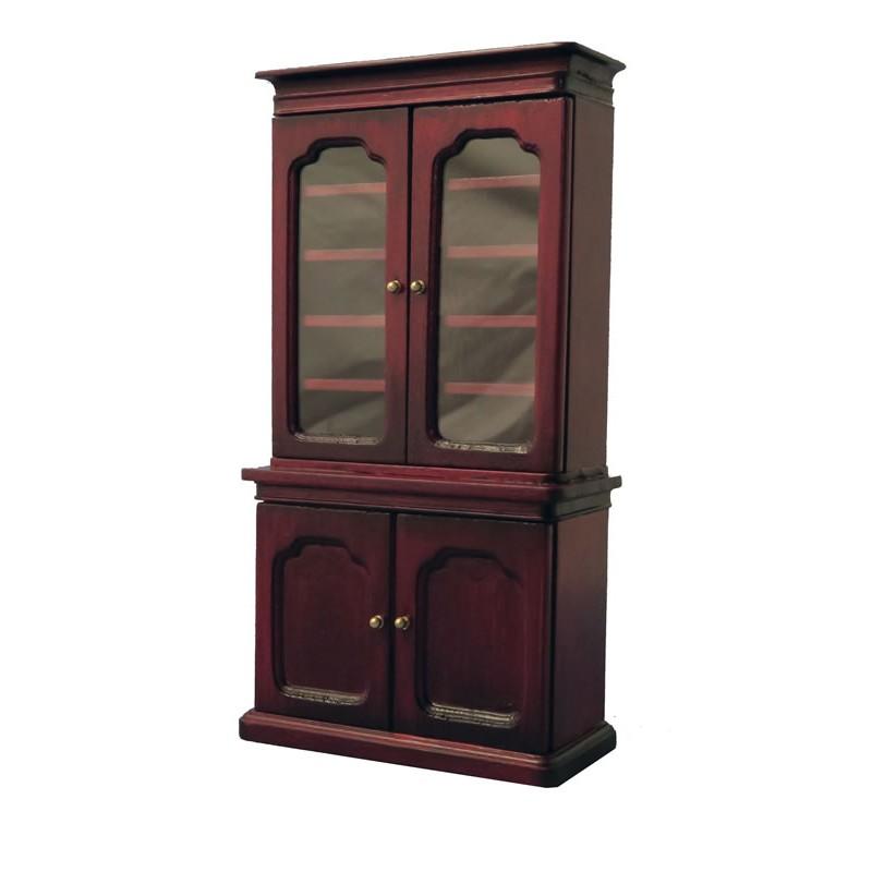 Babettes Miniaturen Bookcase Mahogany
