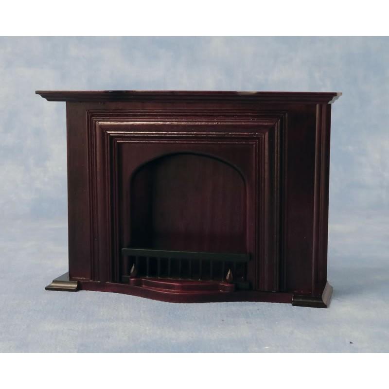 Babettes Miniaturen Fireplace Mahogany