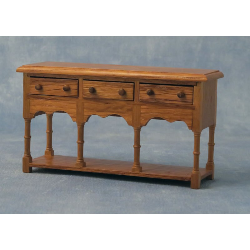 Babettes Miniaturen Oak Sideboard w/ 3 drawers