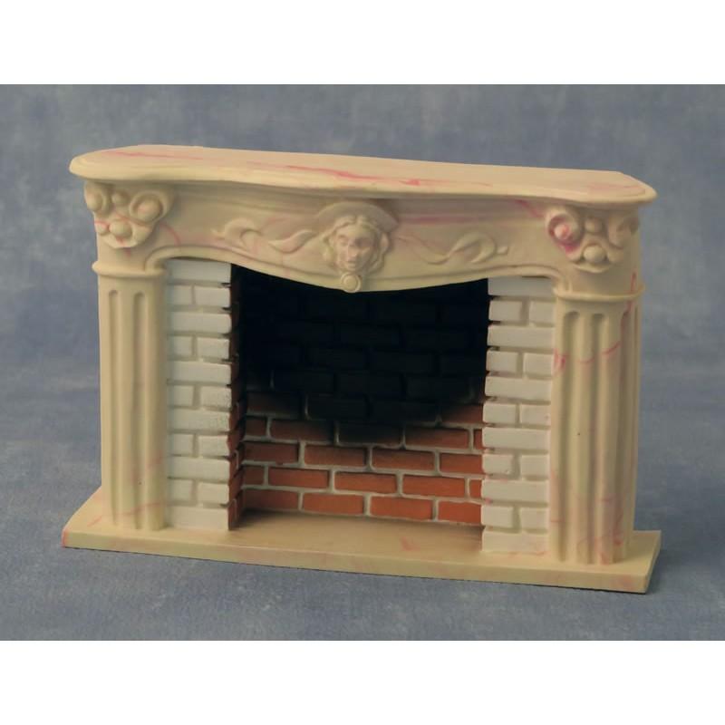 Babettes Miniaturen Victorian Fireplace red