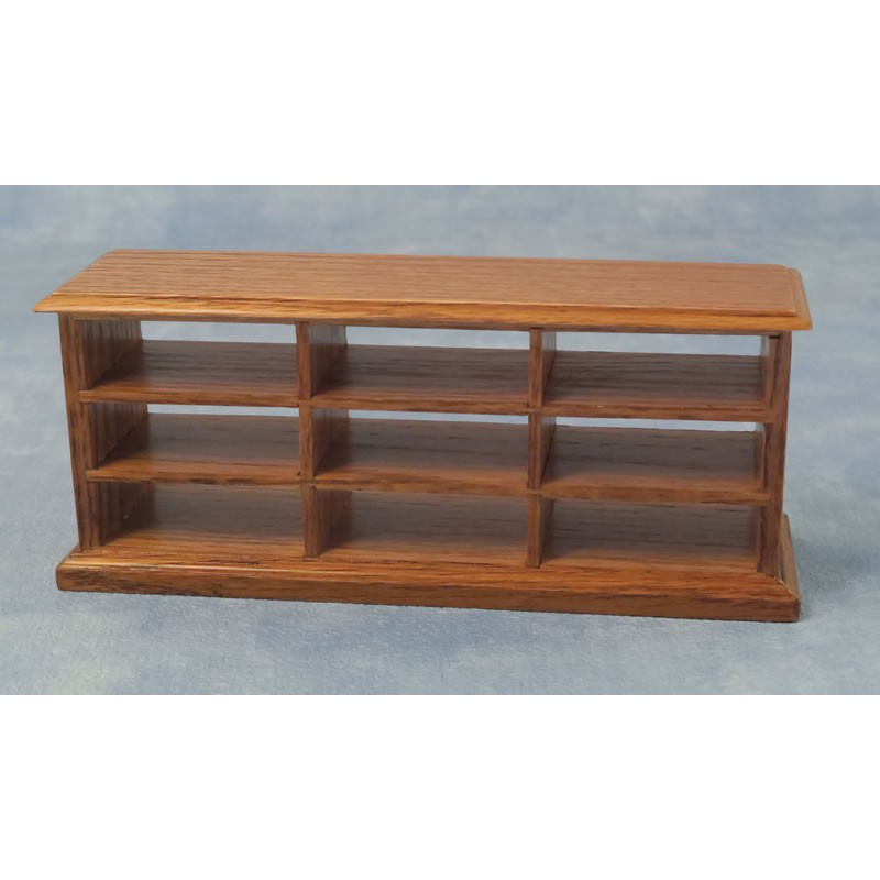 Babettes Miniaturen Counter with Shelves Oak