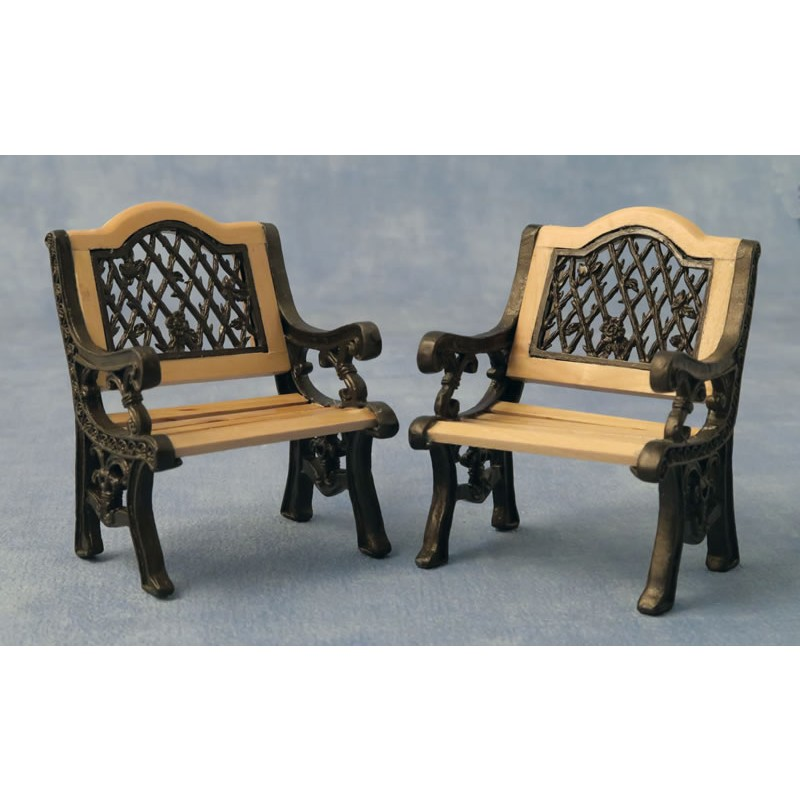 Babettes Miniaturen Iron Garden Chairs 2 pcs
