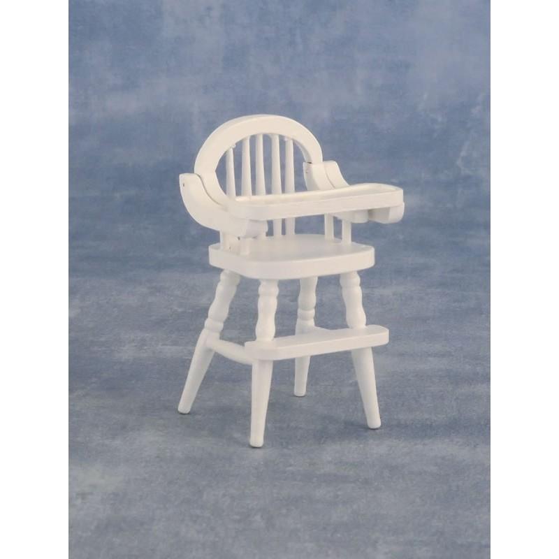 Babettes Miniaturen Baby Highchair White