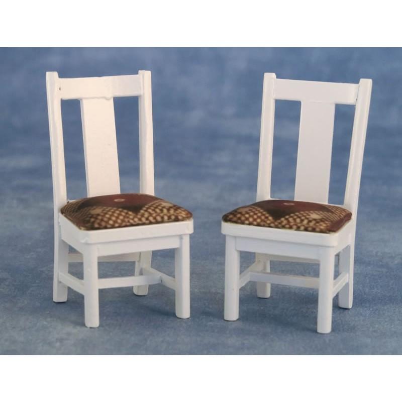 Babettes Miniaturen Dining Chair 2pcs White