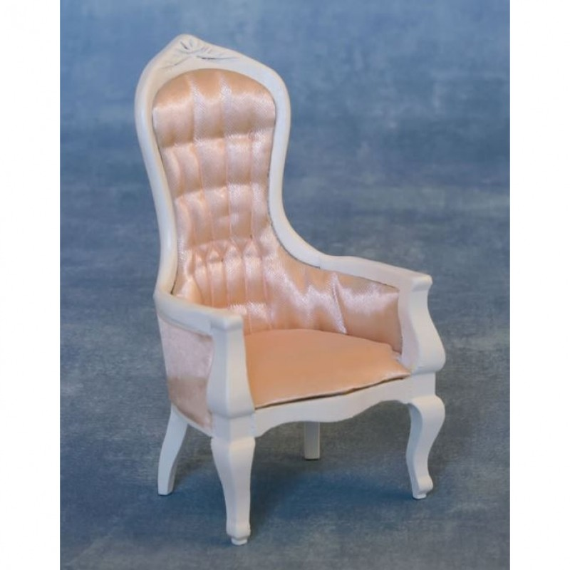 Babettes Miniaturen Victorian Mens Chair White