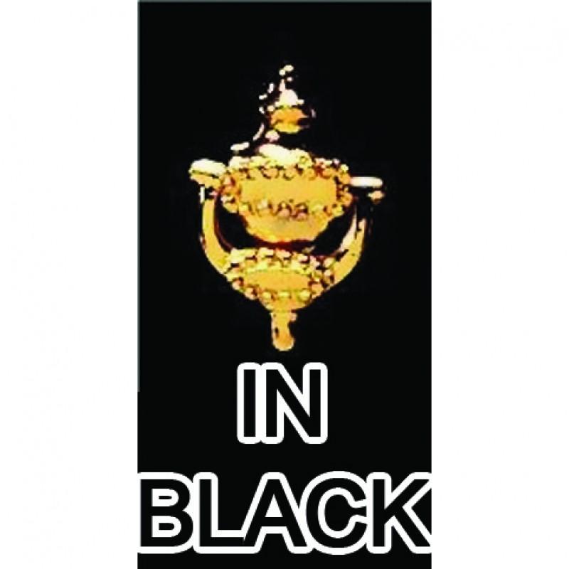 Black Door Knocker