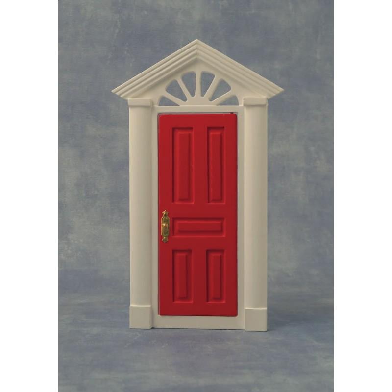 Red Painted Door