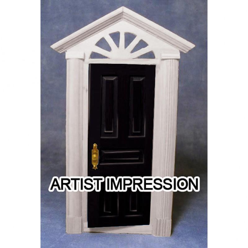 Black Painted Door