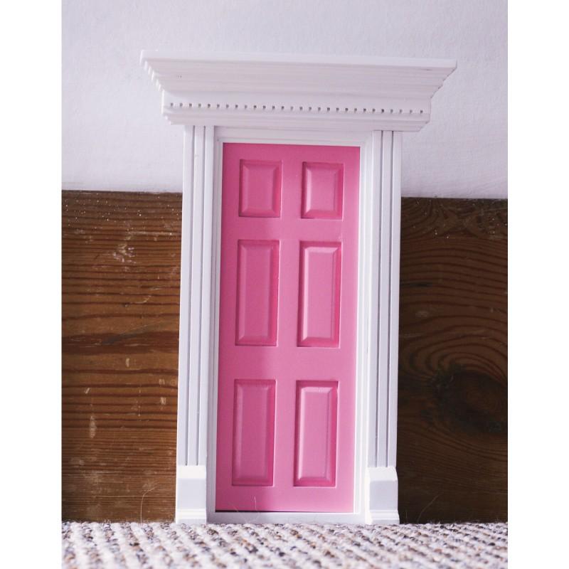 Dentil Trim Door Pink