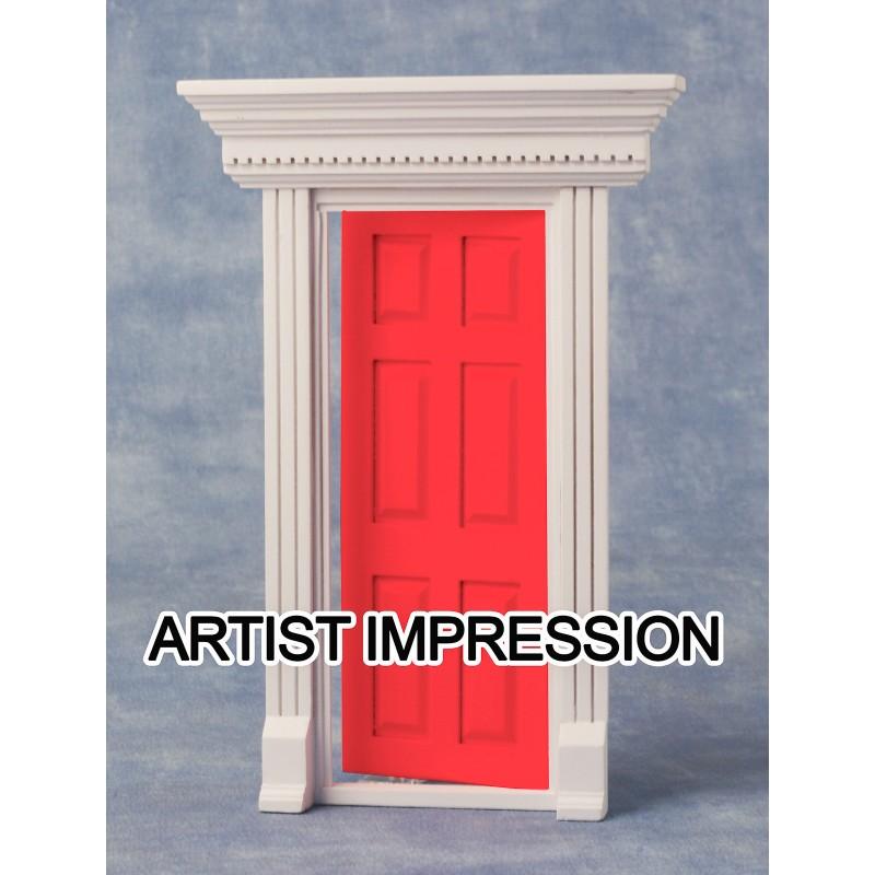 Dentil Trim Door Red