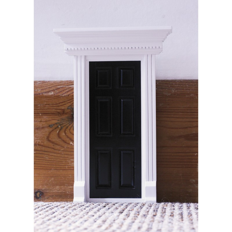 Dentil Trim Door Black