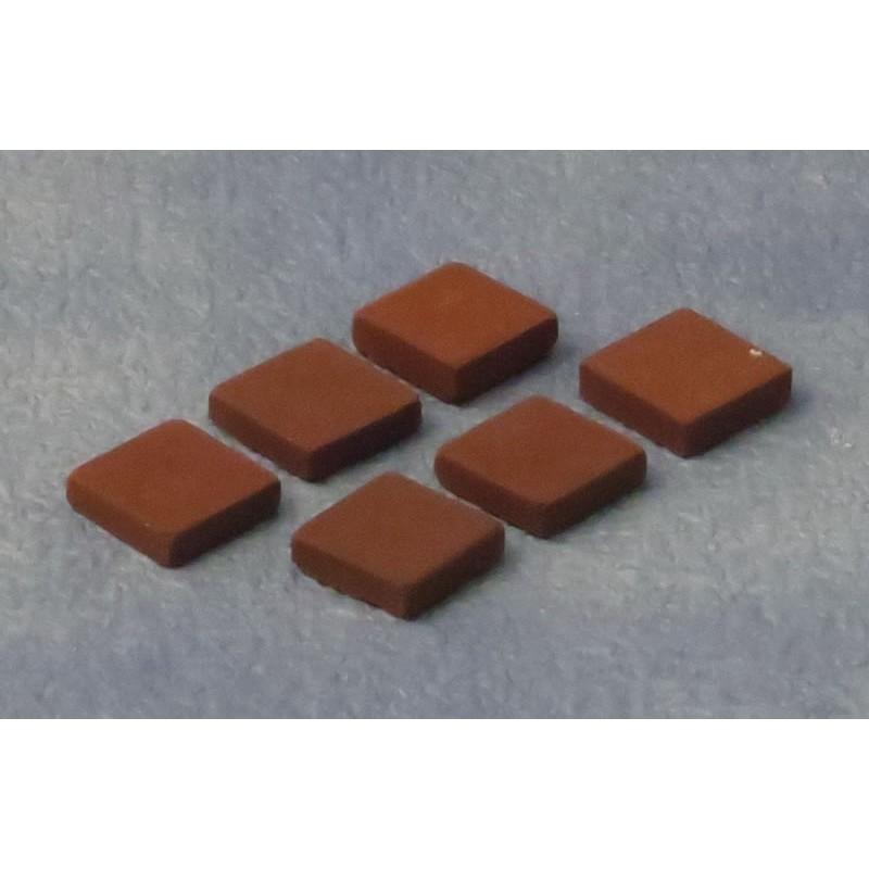 Babettes Miniaturen Terracotta Tiles pk50