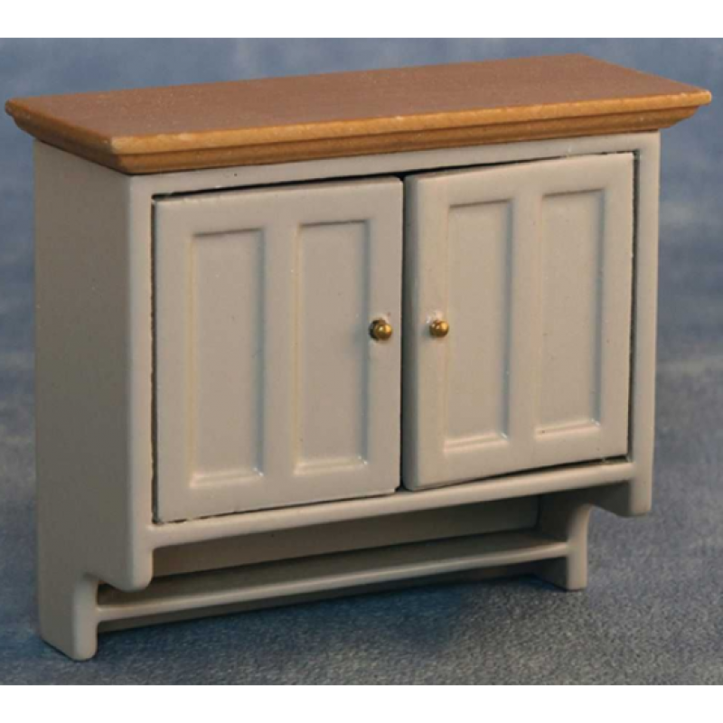 Grey/Pine Shaker-style Wall Cabinet