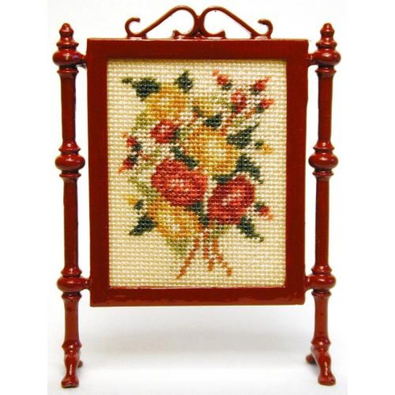 Summer Roses Dolls' House Needlepoint Firescreen Kit