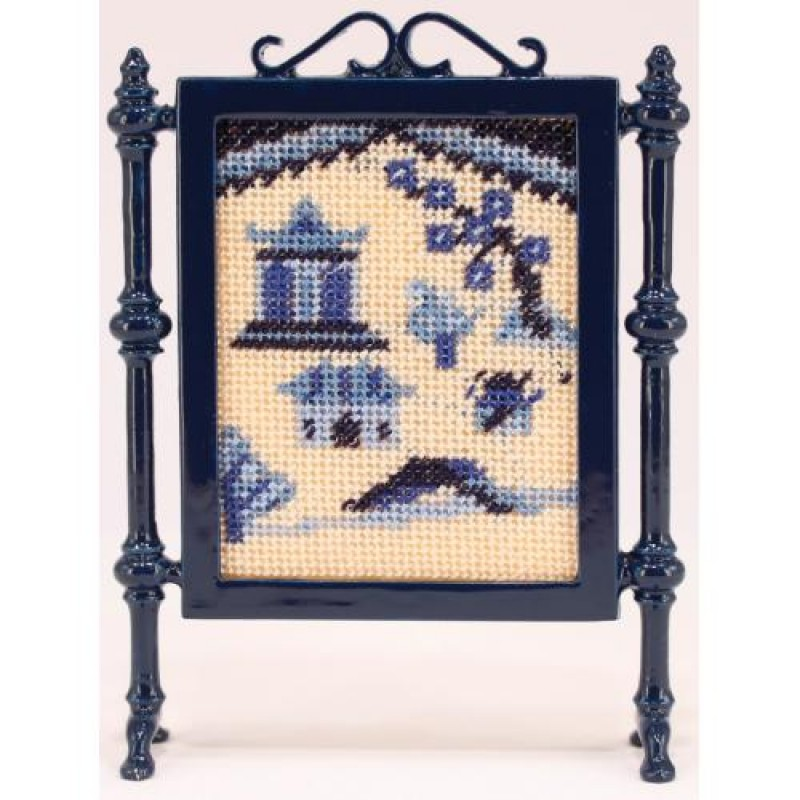 Willow Pattern Dolls' House Needlepoint Firescreen Kit
