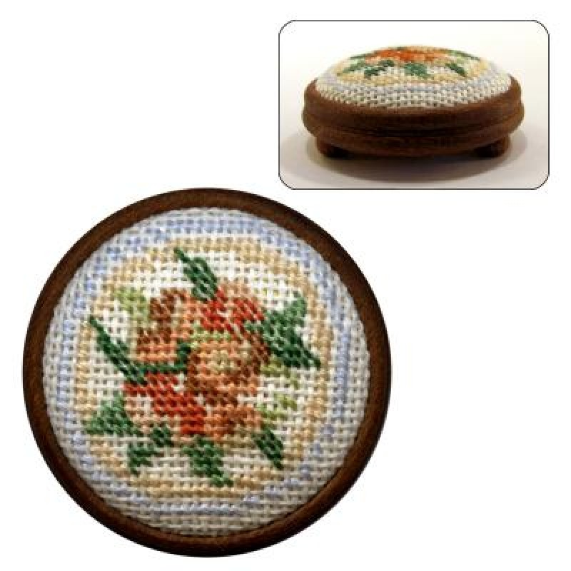 Alice (blue) Dolls' House Needlepoint Footstool Kit