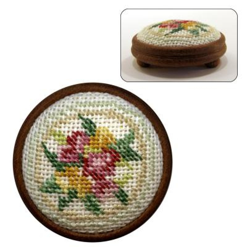 Alice (green) Dolls' House Needlepoint Footstool Kit