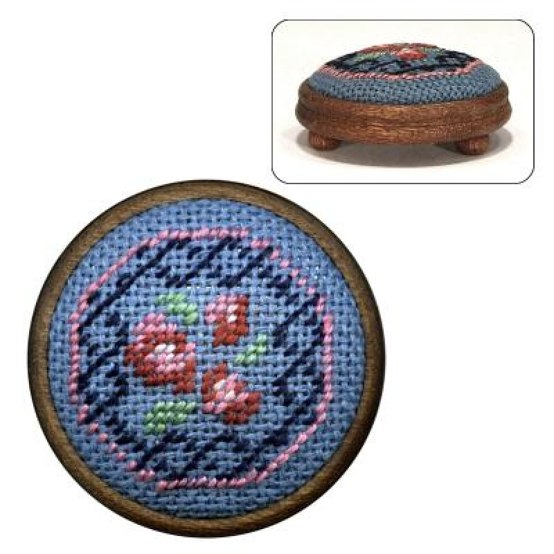 Barbara (blue) Dolls' House Needlepoint Footstool Kit