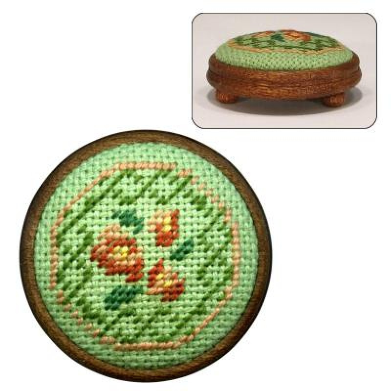 Barbara (green) Dolls' House Needlepoint Footstool Kit