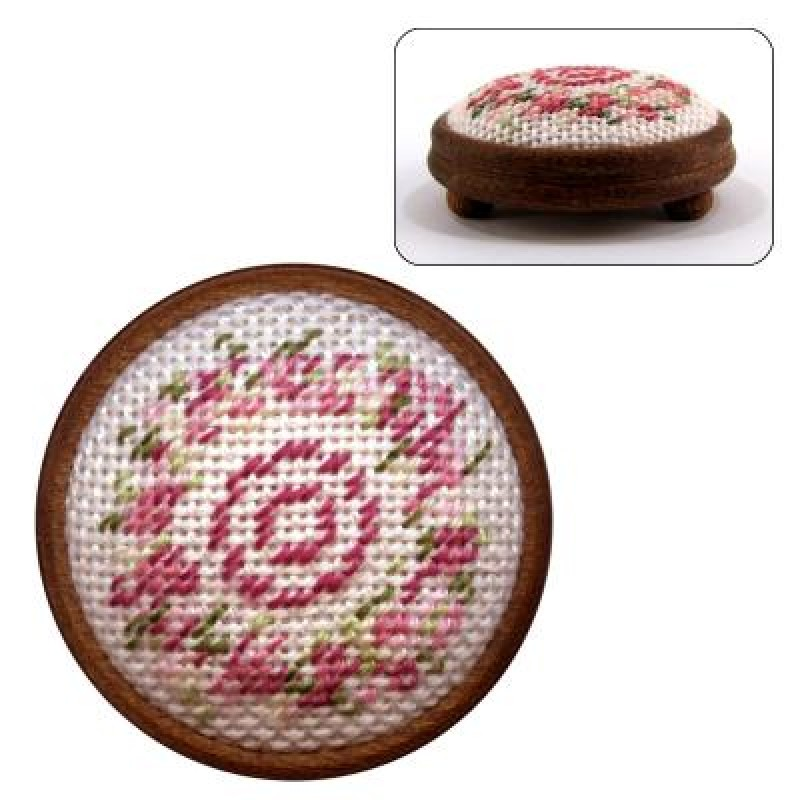 Kate (pink) Dolls' House Needlepoint Footstool Kit