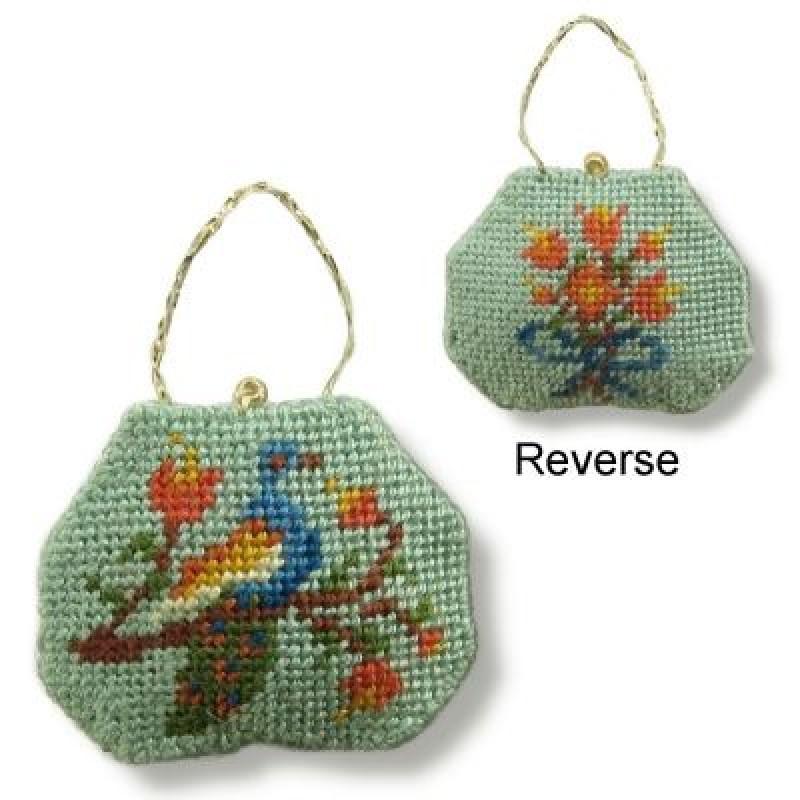 Elegant Peacock Dolls' House Needlepoint Handbag Kit