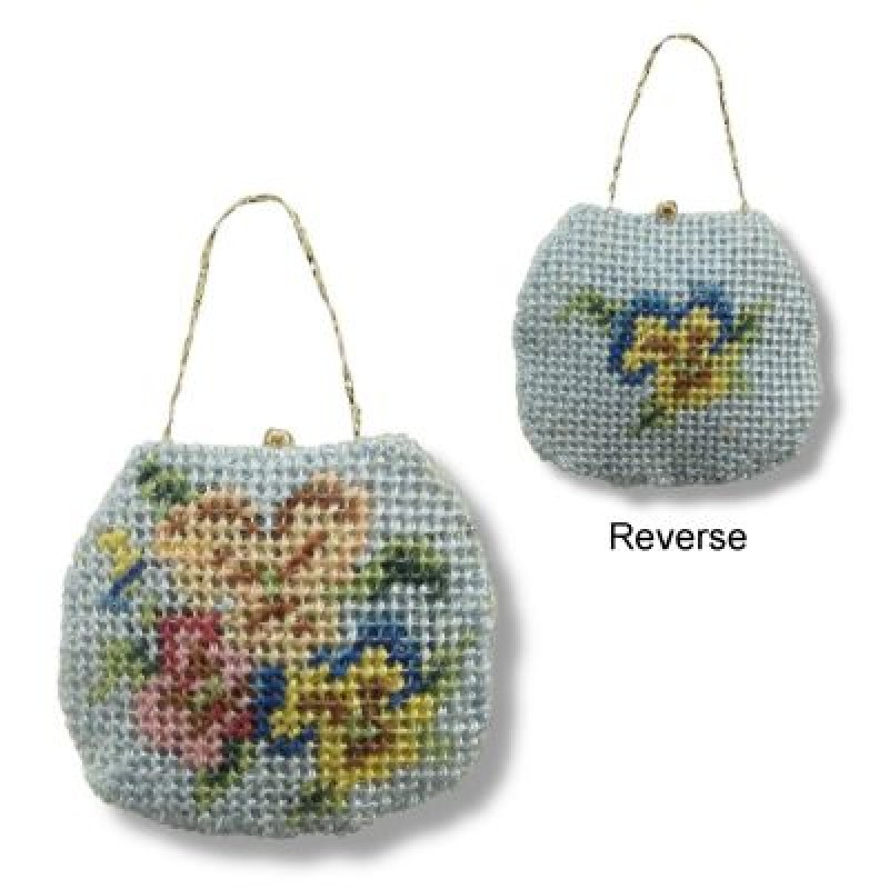 Pansies Dolls' House Needlepoint Handbag Kit