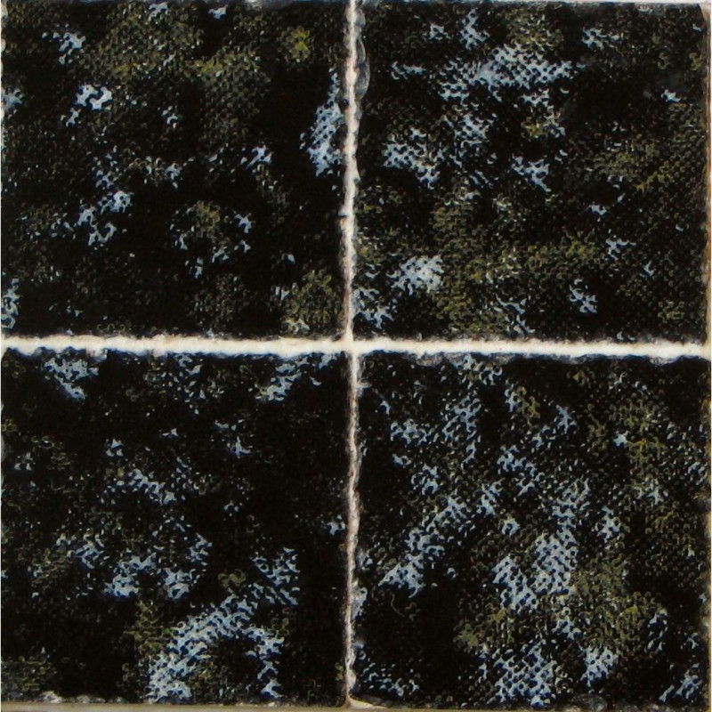 3/8inch Marbled Black Ceramic Tiles, 80 Pack