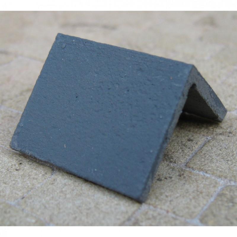 Angled Simulated Slate Ridge Tiles, 10 Pieces