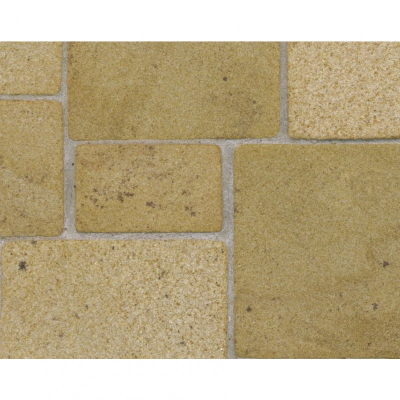 Random Yellow Sandstone Flagstones, Small Pack