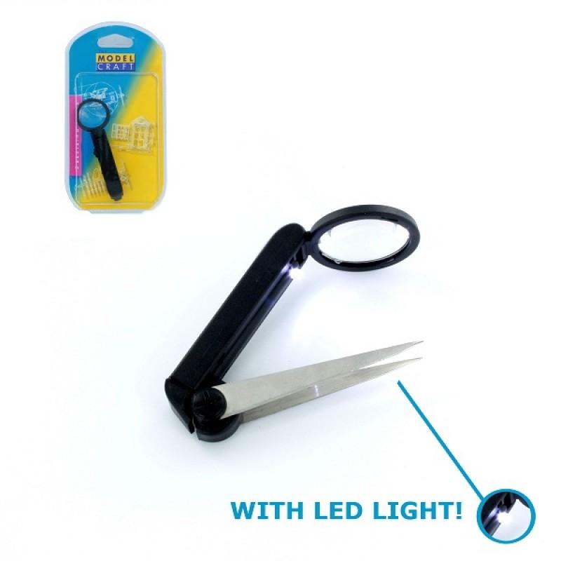 LED Magnifier Tweezers