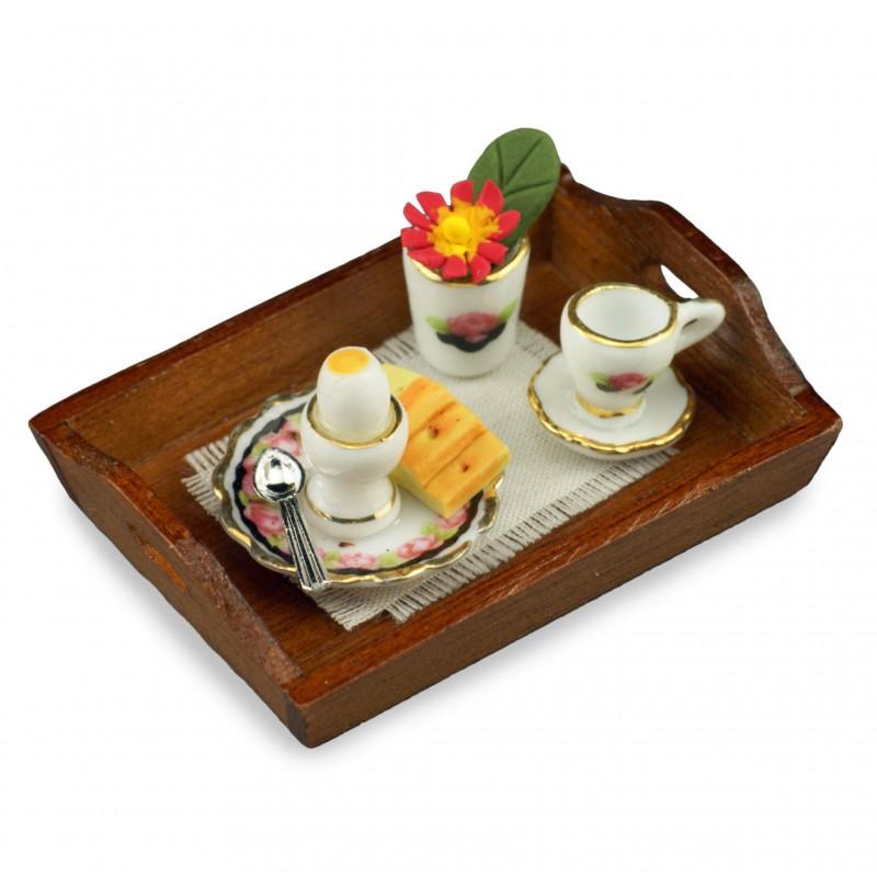 Black Rose Breakfast Tray