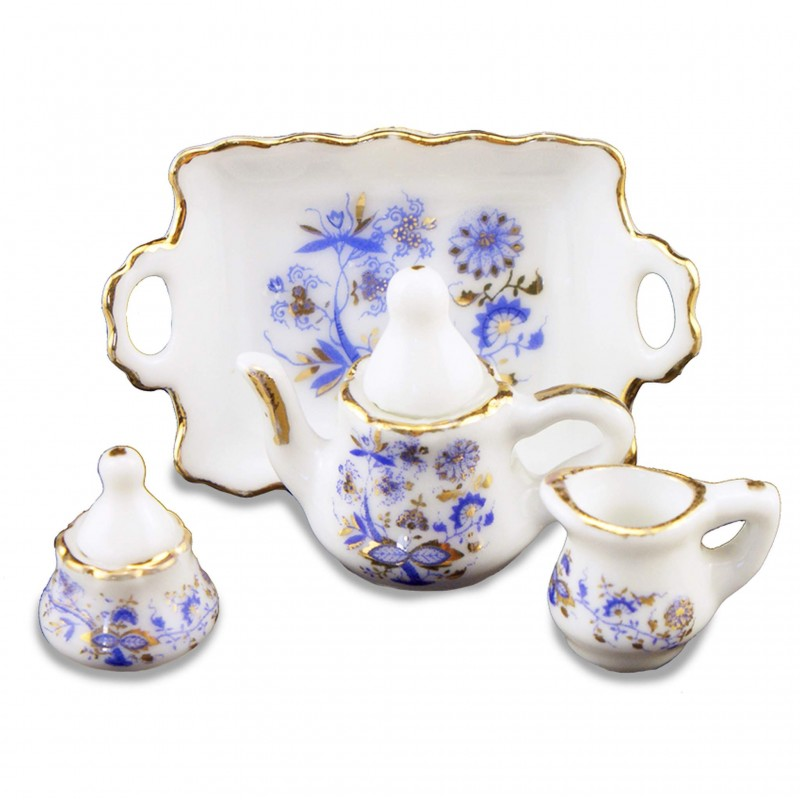 Blue & Gold Tea Set