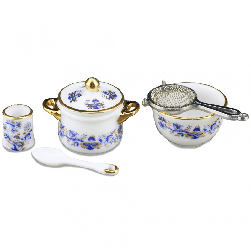 Reutters Kitchen Set Blue Onion