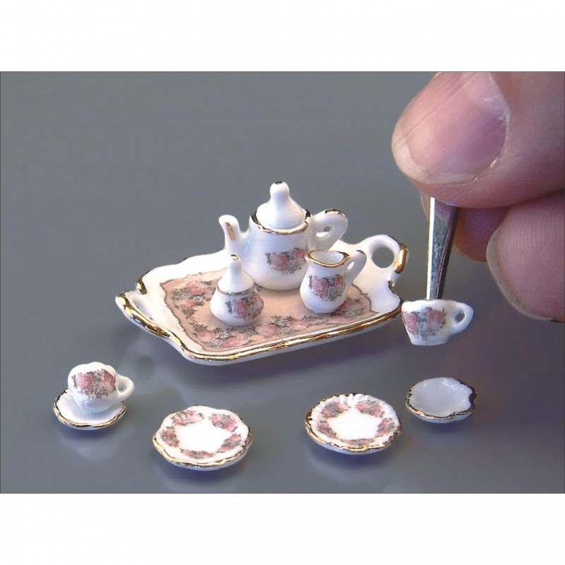 1/24th Scale Classic Rose Coffee Tray
